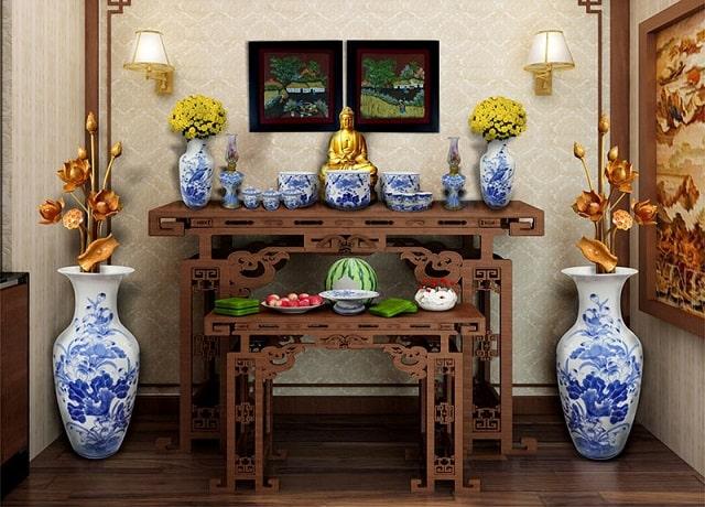 Lưu ý khi thiết kế phòng thờ Phật Bà Quan Âm