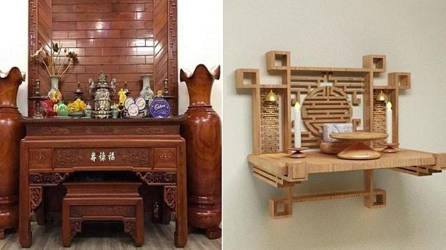 Bàn thờ làm bằng gỗ mít đảm bảo chất lượng