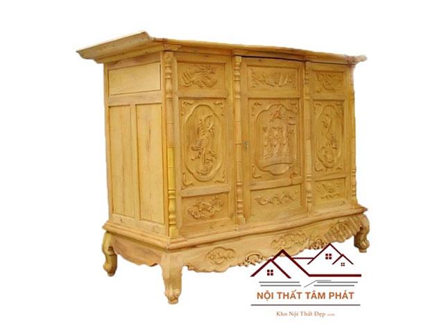 Giá tủ thờ làm bằng gỗ mít