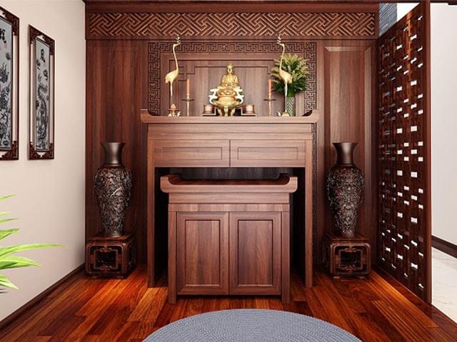 Những mẫu bàn thờ gỗ mít giá rẻ phổ biến hiện nay