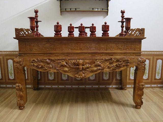 Đặt mua sập bàn thờ Tâm Phát với giá thành hợp lý