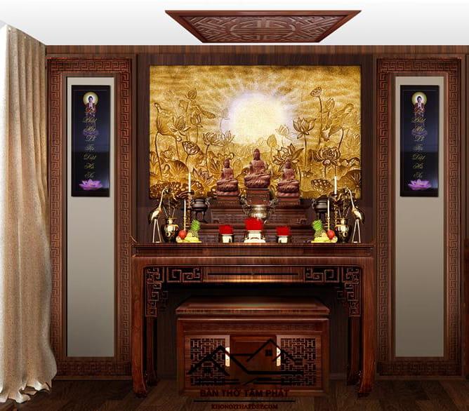 Mua bàn thờ Phật đẹp tại cửa hàng Tâm Phát