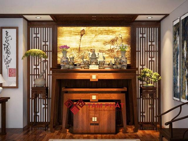 Kiểu bàn thờ hiện đại Tâm Phát thiết kế đa dạng phong cách