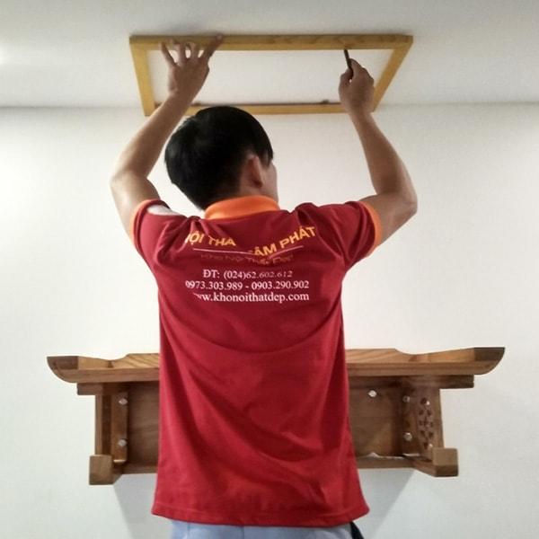 Lưu ý trong lắp đặt bàn thờ treo tường