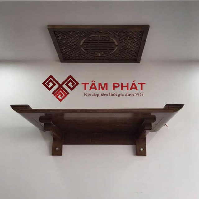 Bàn thờ gỗ hương treo tường Tâm Phát