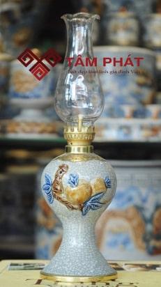 Đèn váy tròn hình quả Đào Bát Tràng