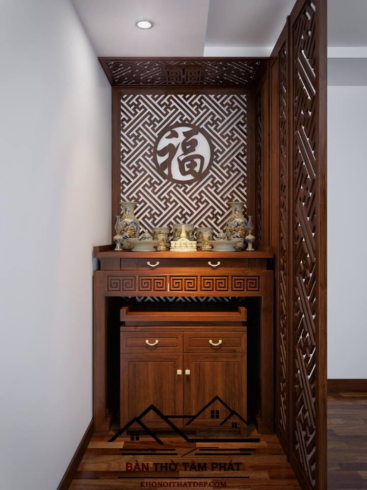 Vách ngăn phòng khách và phòng thờ đẹp giá rẻ Tâm Phát