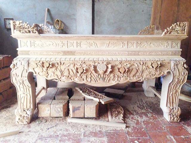 Sập thờ gỗ mít Tâm Phát
