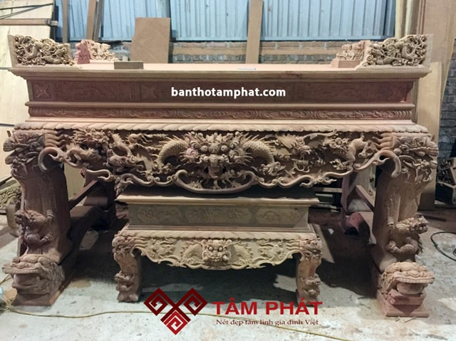Sập thờ gỗ gụ Tâm Phát