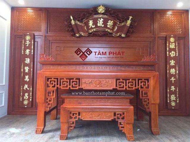 Vì sao nên lựa chọn bàn thờ gỗ gụ?