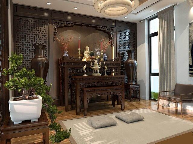 Mẫu bàn thờ Phật đẹp Tâm Phát với chất liệu cao cấp