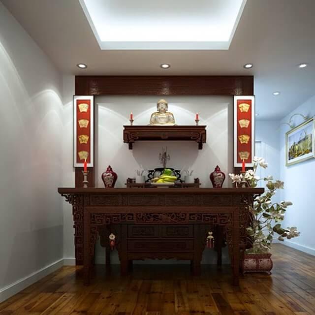 Bàn thờ Phật treo tường đẹp giá rẻ Tâm Phát