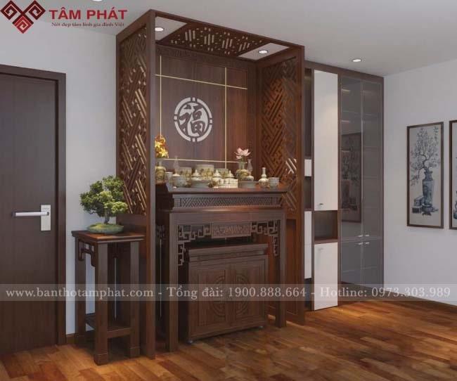 Tâm Phát cung cấp mẫu bàn thờ nhà chung cư với dịch vụ hoàn hảo