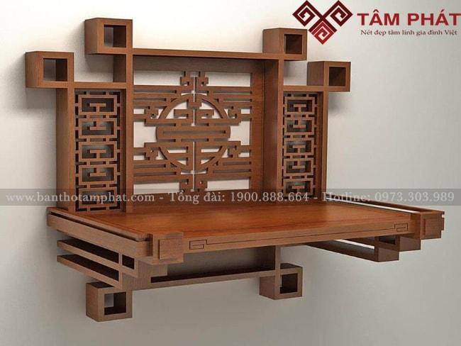 mẫu bàn thờ treo tường đẹp, hiện đại, giá rẻ