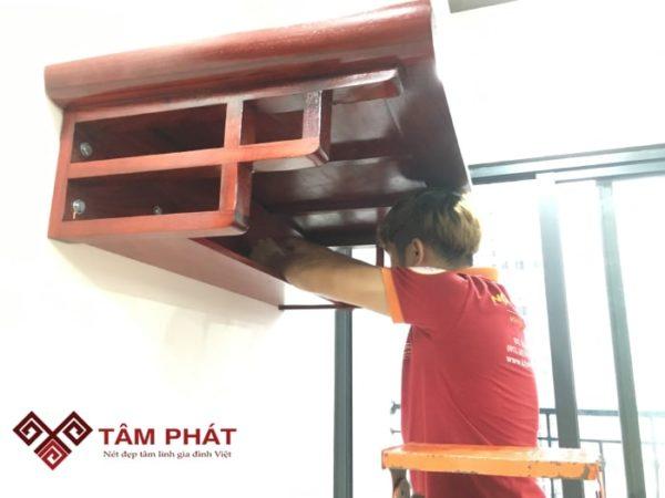 Bàn Thờ Treo Tường Gỗ Hương BTG2038 - Ảnh 3
