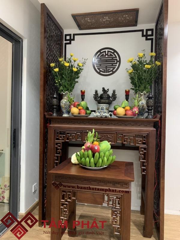 Mẫu bàn thờ gỗ đẹp Tâm Phát BTG1025