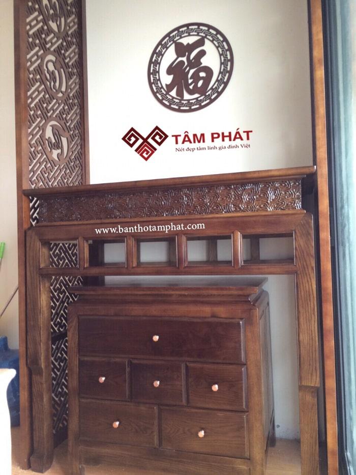 Bàn thờ đứng đẹp Tâm Phát mẫu BTG1032