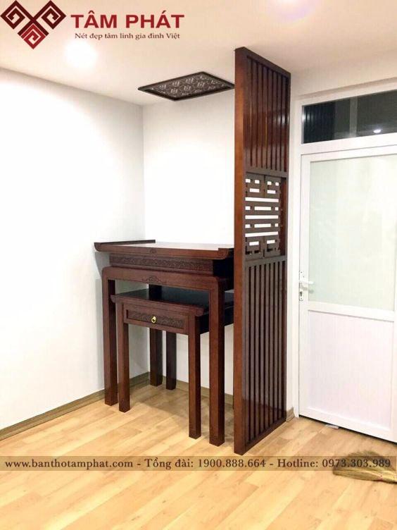 Mẫu bàn thờ đơn giản BTG1055