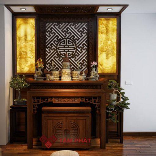 Mẫu bàn thờ hiện đại BTG1020 mang thương hiệu Tâm Phát