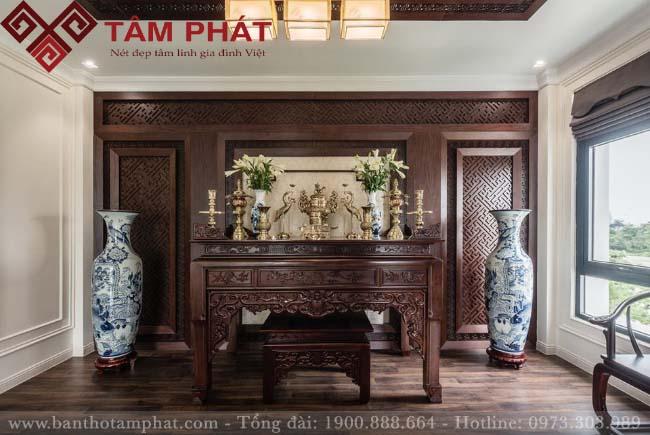 Mẫu bàn thờ gia tiên đẹp BTG1048