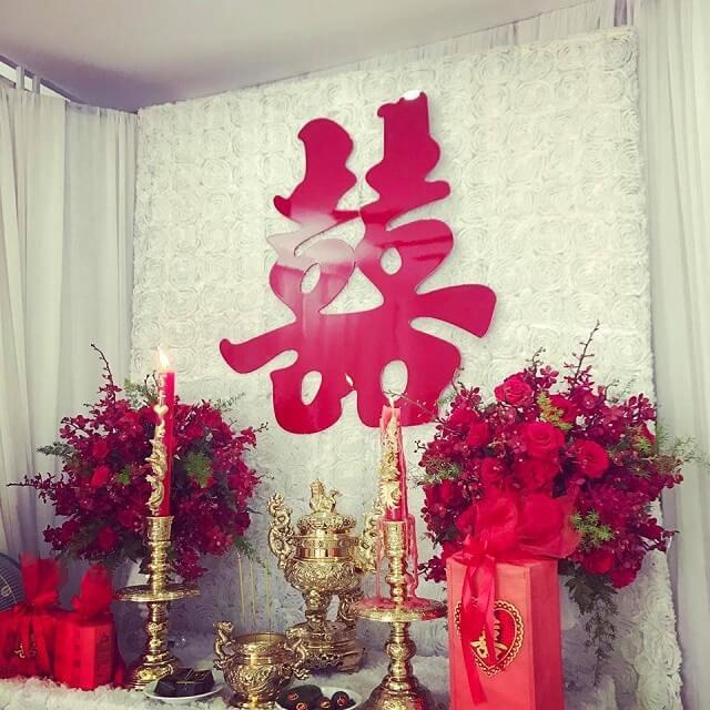 Những vật cần có trên bàn thờ gia tiên ngày cưới