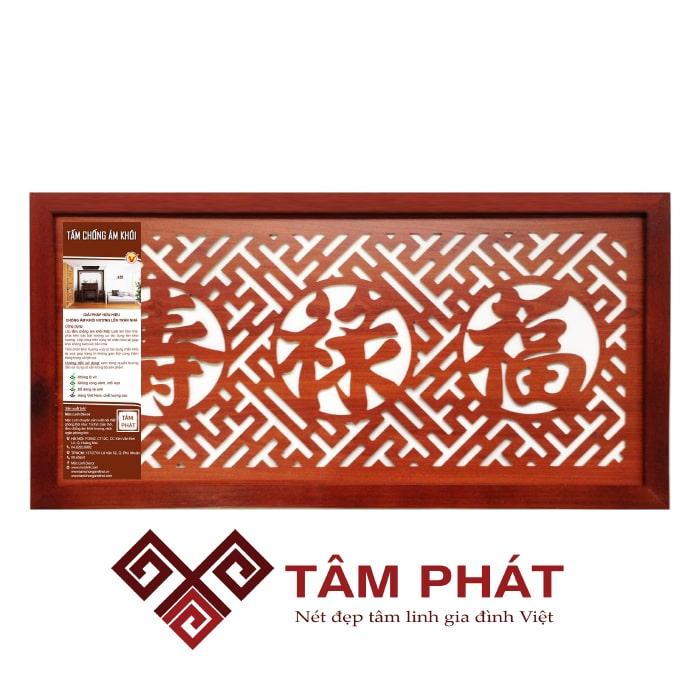 Tấm chống ám khói 41×81 Phúc-Lộc-Thọ (Hán) – Nâu