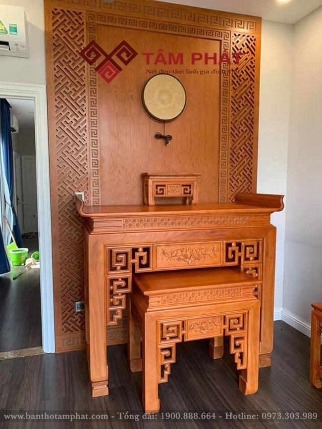 Bàn thờ gỗ đẹp Tâm Phát mẫu BTG1069