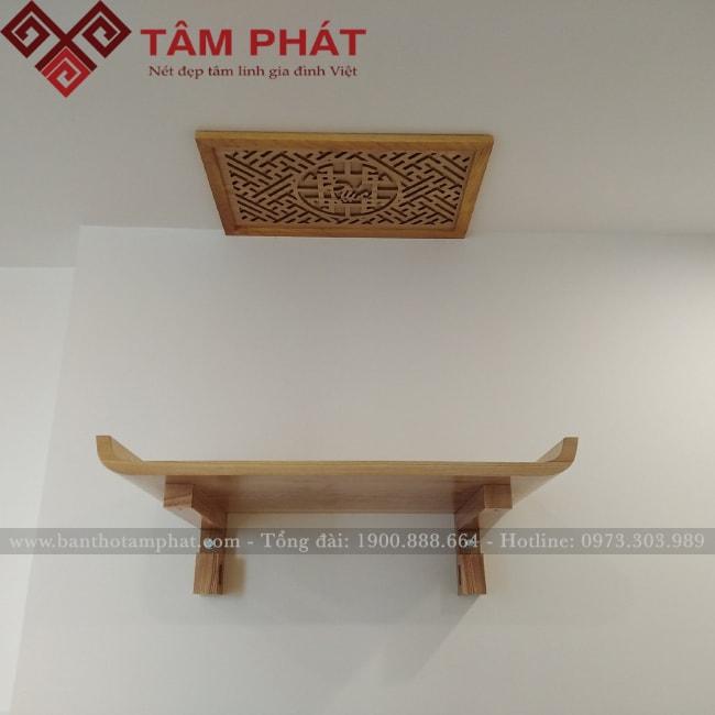Bàn thờ treo tường đơn giản mẫu BTG2060