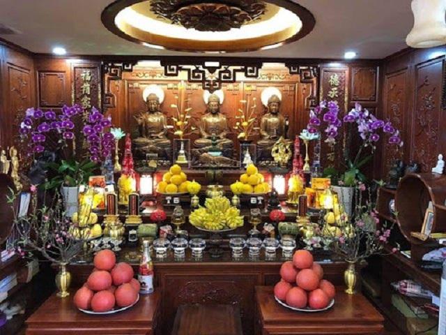 Nguyên tắc đặt bàn thờ Phật và gia tiên