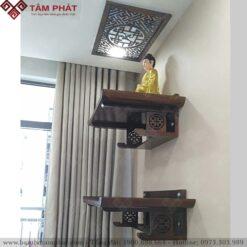 Mẫu bàn thờ treo tường 2 tầng BTG2099