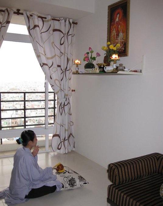 Vị trí đặt bàn thờ bằng nhôm kính