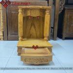 Bàn thờ Thần Tài đơn giản mẫu BTTG3303
