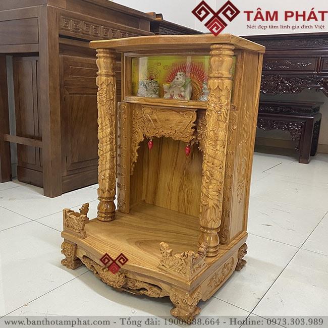 Mẫu bàn thờ thần tài mái bằng BTTG3302