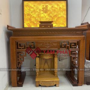 Có thể kết hợp bàn thờ đứng với bàn thờ Thần Tài