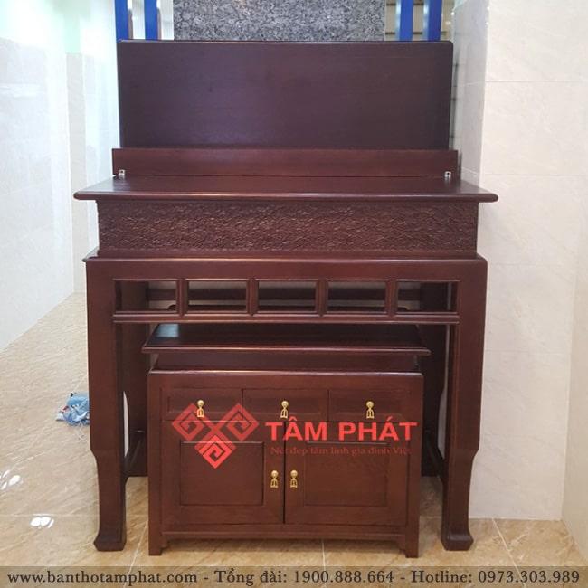 Mẫu bàn thờ gia tiên đẹp, đơn giản Bàn thờ gỗ Tâm Phát