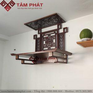 Mẫu bàn thờ treo đẹp, tinh tế BTG2072