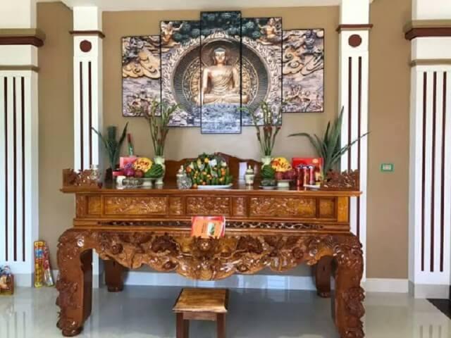 Tranh Phật treo phòng thờ