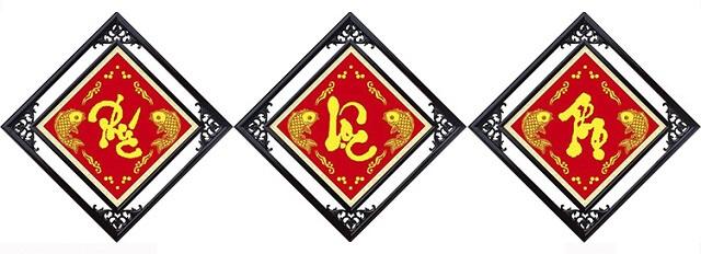 Tranh thêu chữ thập treo bàn thờ