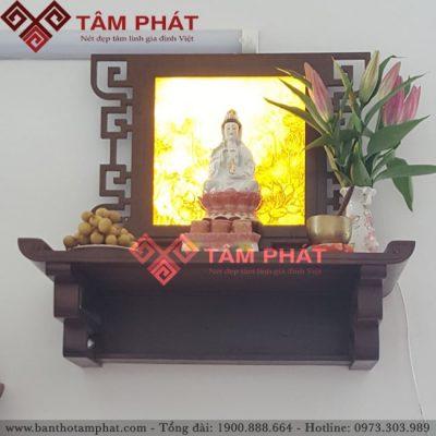 Bàn thờ Phật treo tường trang trí tranh trúc chỉ mẫu BTG2094