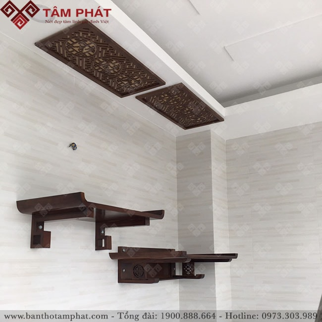 Bàn thờ treo tường 2 tầng mẫu BTG2201