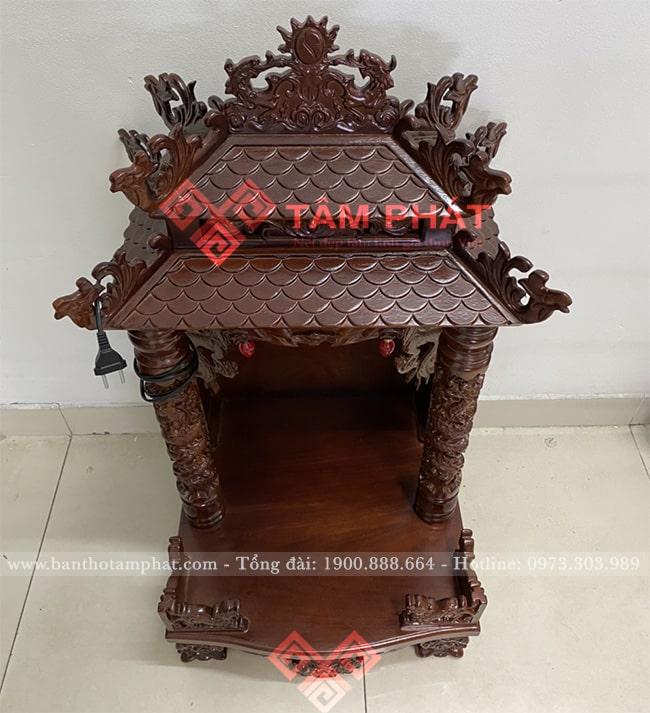 Mẫu bàn thờ Thần Tài có kiểu mái chùa