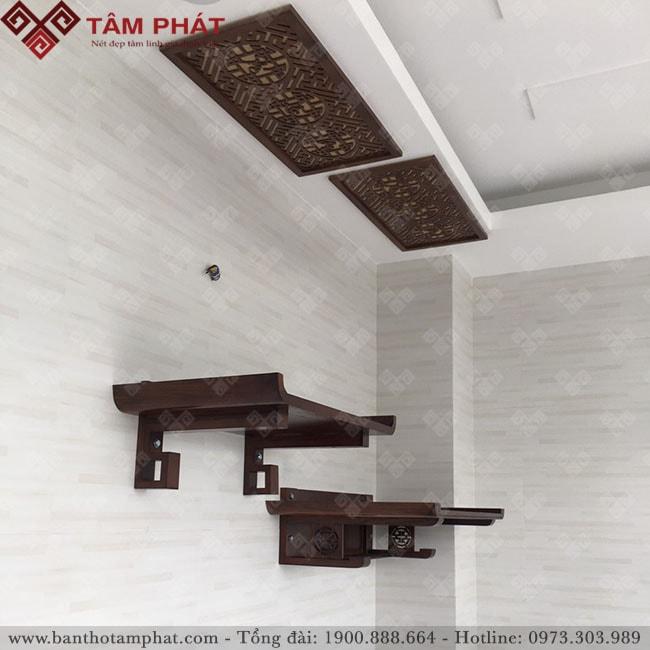 Mẫu bàn thờ treo tường thiết kế bắt mắt