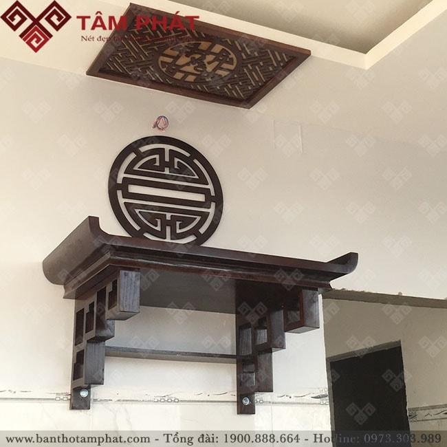 Kích thước lỗ ban cho bàn thờ treo tường