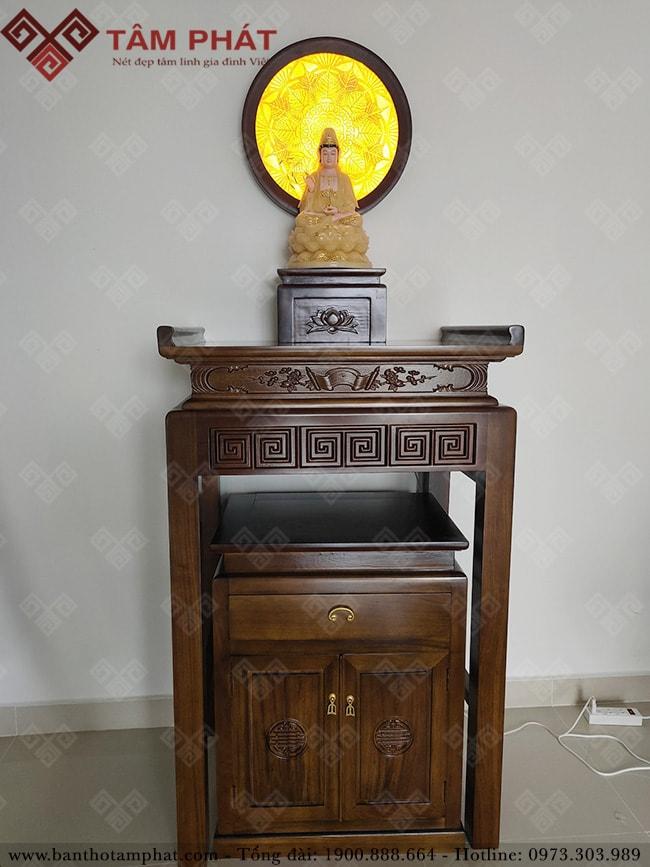 Mẫu bàn thờ Phật đẹp hiện đại BTG-1106