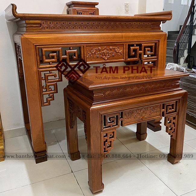 Mẫu bàn thờ gỗ Gụ BTG - 1068 thiết kế tinh tế