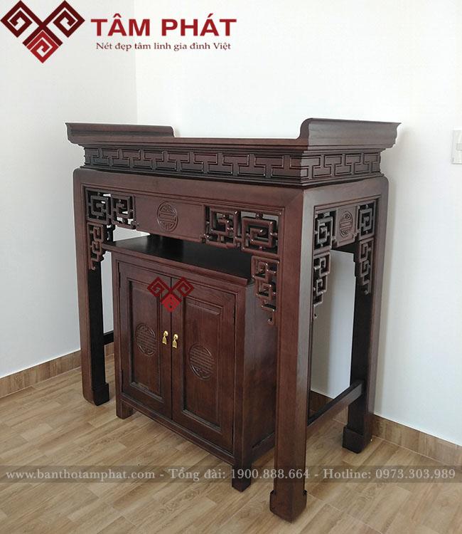 Mẫu bàn thờ BTG - 1104 thiết kế đơn giản, hiện đại