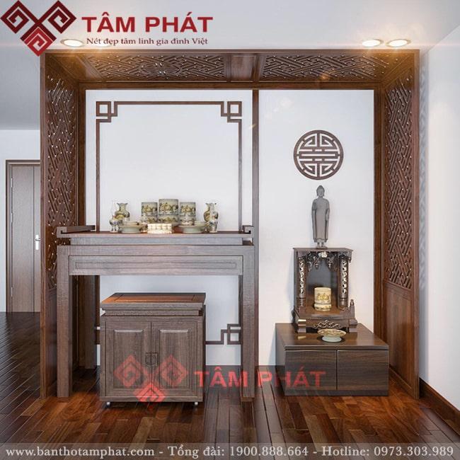 Hình ảnh bàn thờ gỗ tại Tâm Phát chất lượng cao