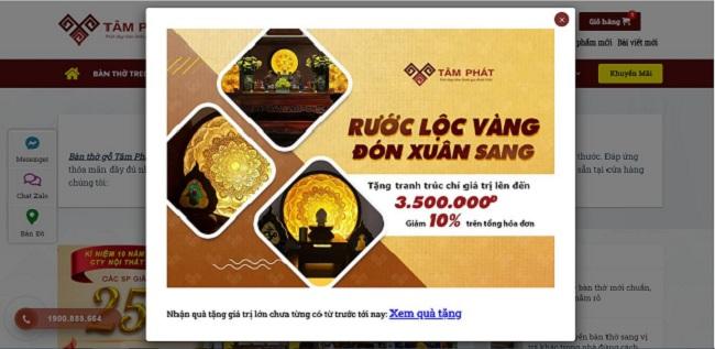 Bàn thờ Tâm Phát đang có chương trình ưu đãi lớn đón Tết Nguyên Đán