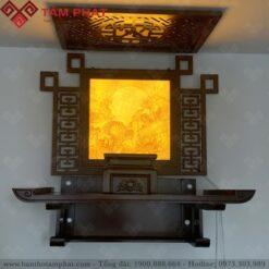 Bàn thờ Phật treo tường được nhiều khách hàng lựa chọn