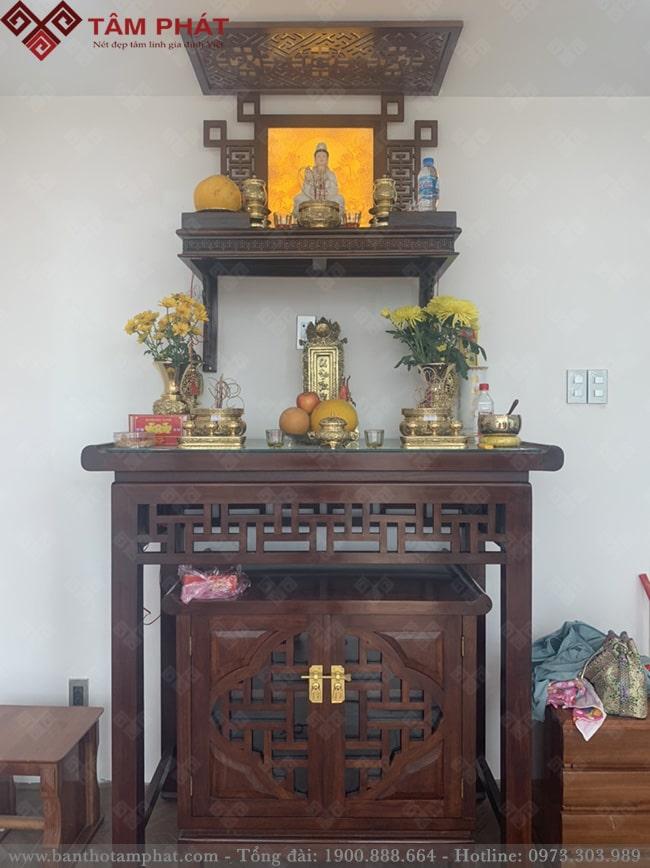 Tranh trúc chỉ mang đến sự thanh tao cho không gian thờ